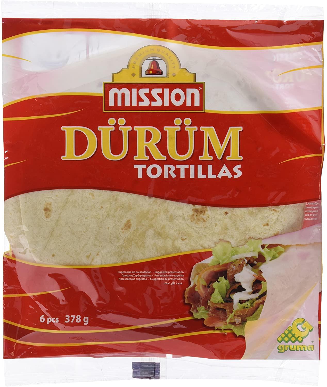 378g Tortitas de trigo Mission Durum
