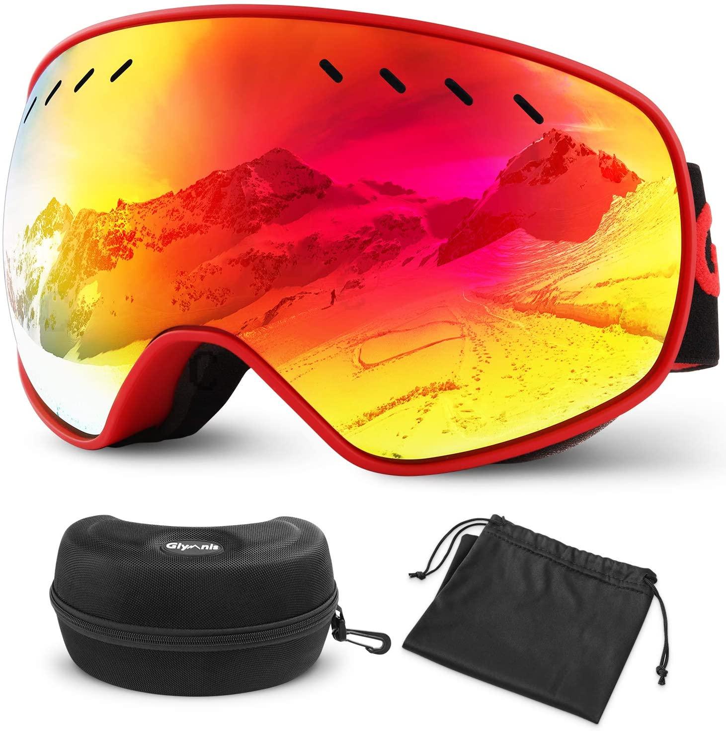 Gafas de esquí Protección UV400 con funda