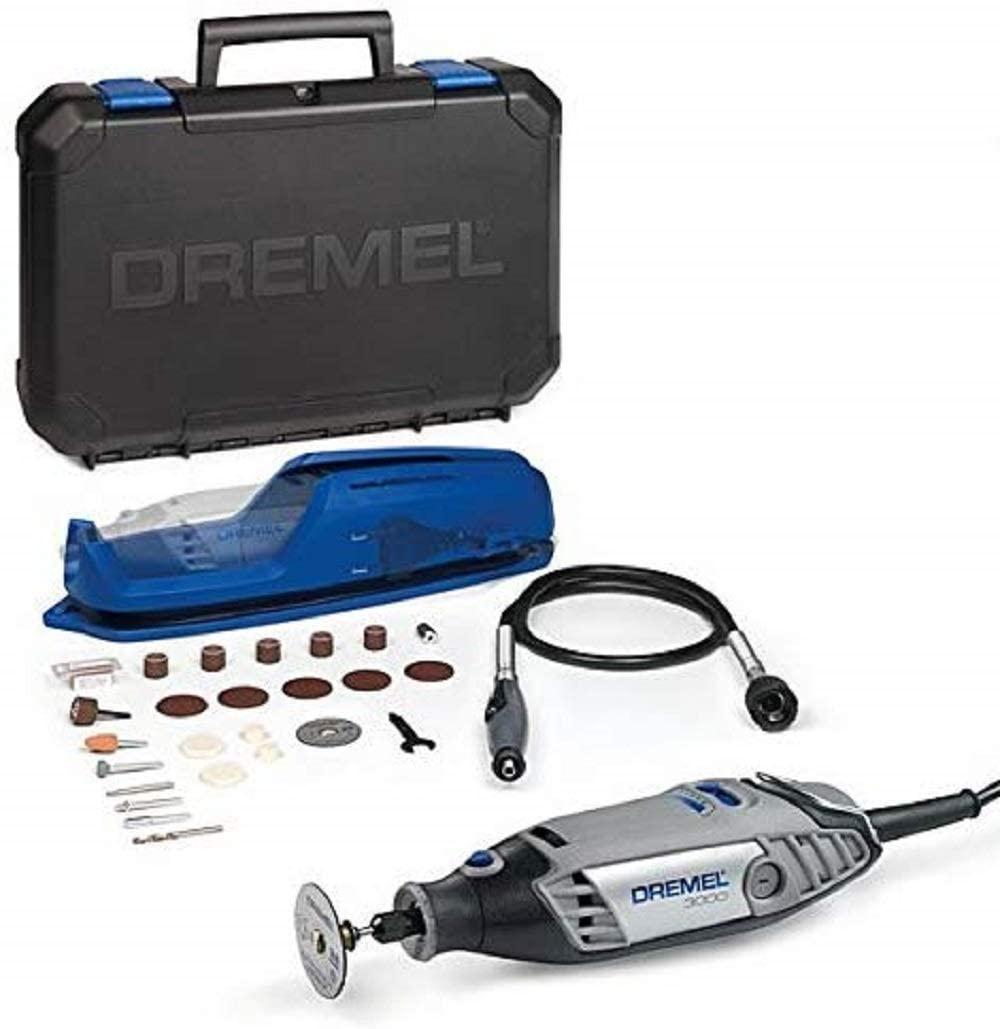 Multiherramienta Dremel 3000 130W + eje flexible + 25 accesorios