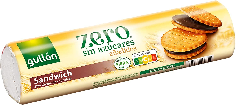 250g Galletas Sándwich Chocolate Gullón Zero Azúcares