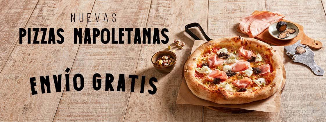 Disfruta de las nuevas pizzas napoletanas a domicilio con gastos de envío gratis
