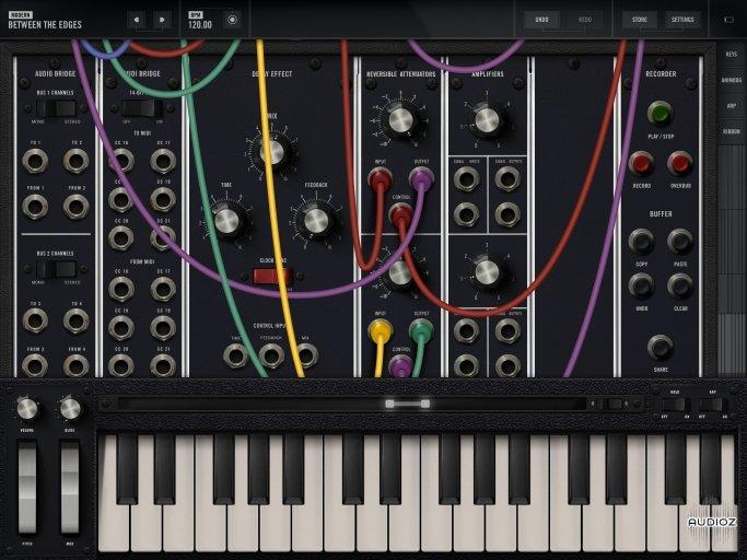 Model 15 Modular Synthesizer + Minimoog Model (primer sintetizador modular) para iOS