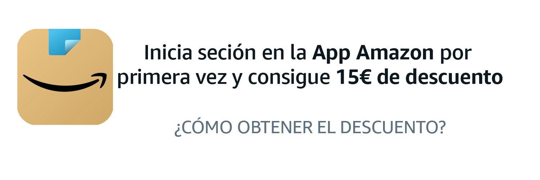 15€ de dto. (Cuentas Seleccionadas 1er inicio desde App) en Amazon