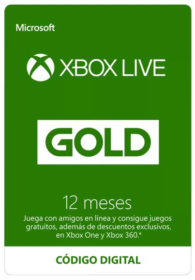 12 meses Xbox Live Gold