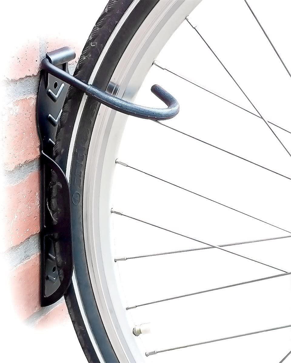 Set de 2 soportes hasta 25 kg cada uno de pared para bicicleta