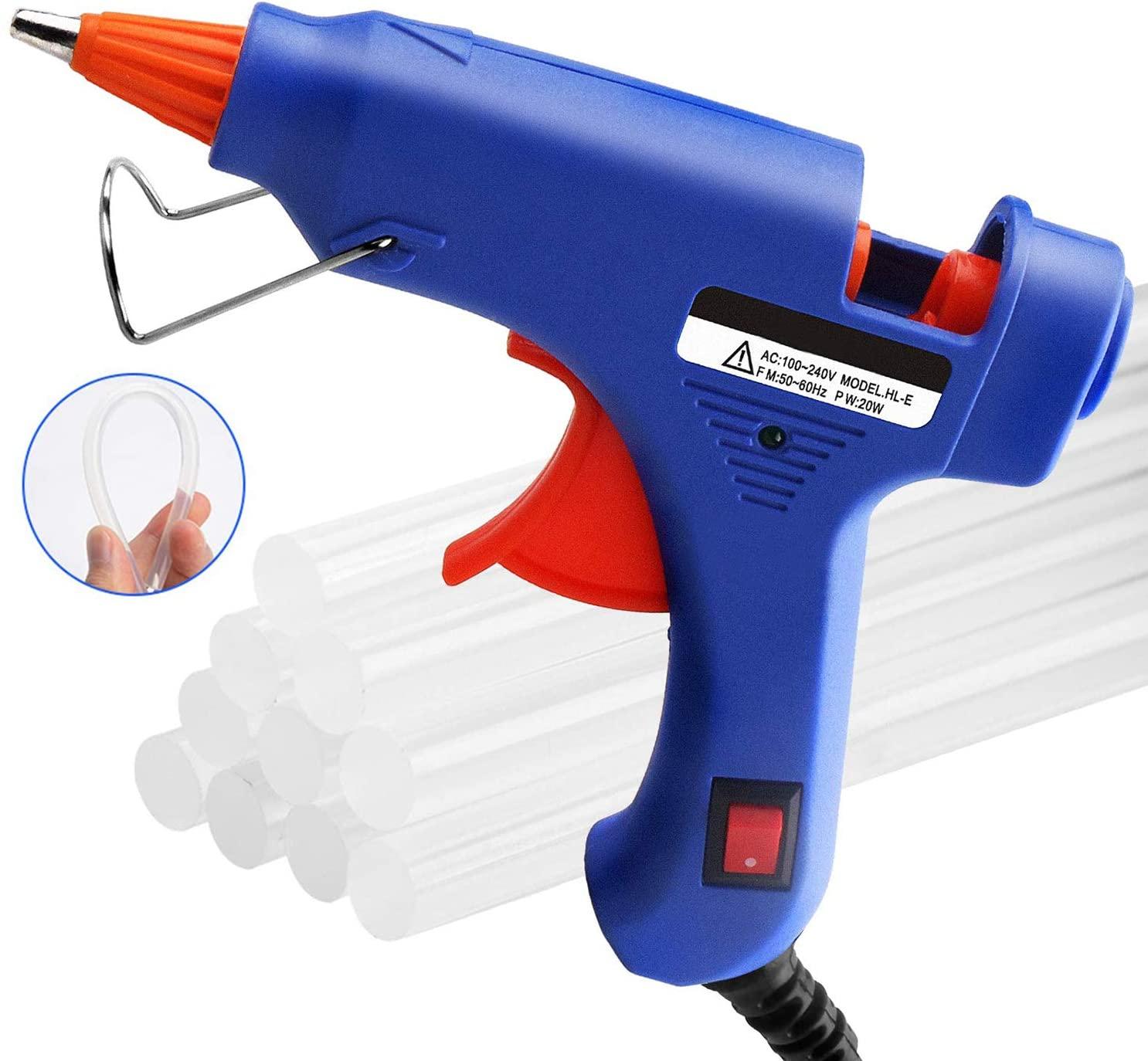 Pistola de pegamento termofusible + 50 barras