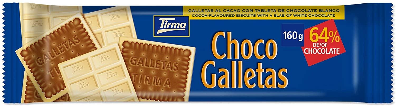 160 Gramos Tirma Chocogalletas Blanco