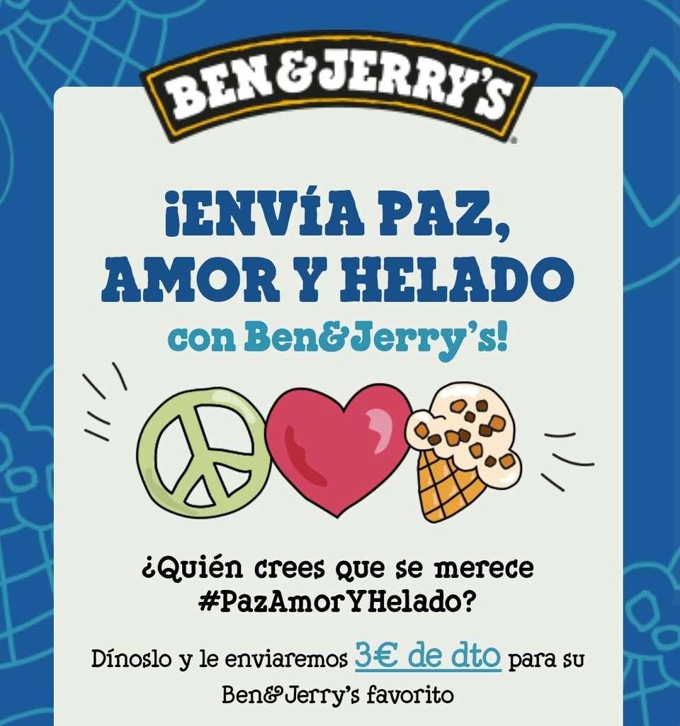 3€ de dto. en tu helado Ben & Jerry's