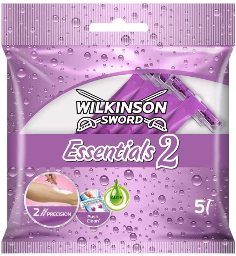 2x5 Maquinilla depilatoria desechable Wilkinson Wk Extra Ii Essensial Beauty 5S' Morada