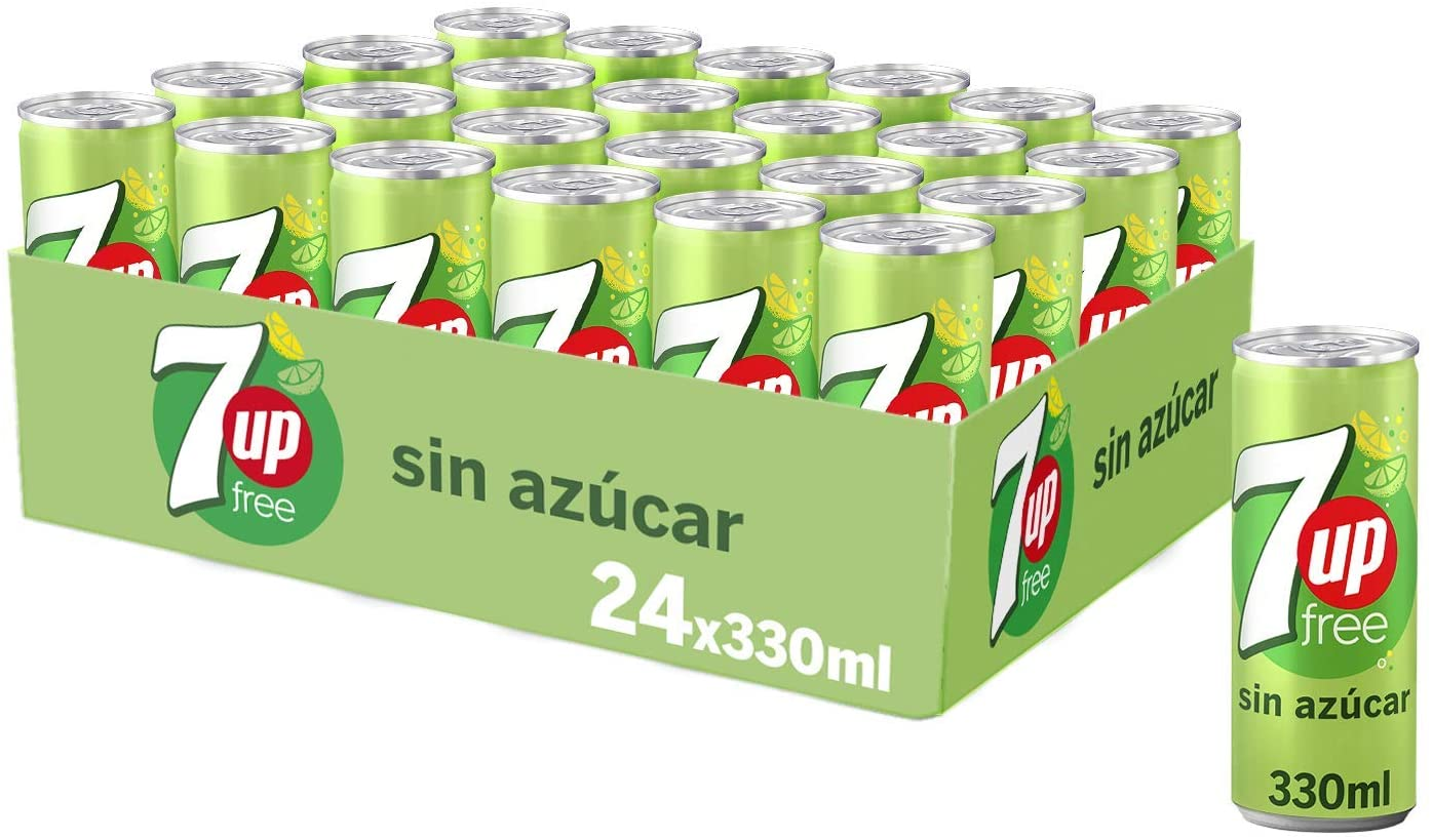 24x330ml 7Up Refresco De Lima Limón