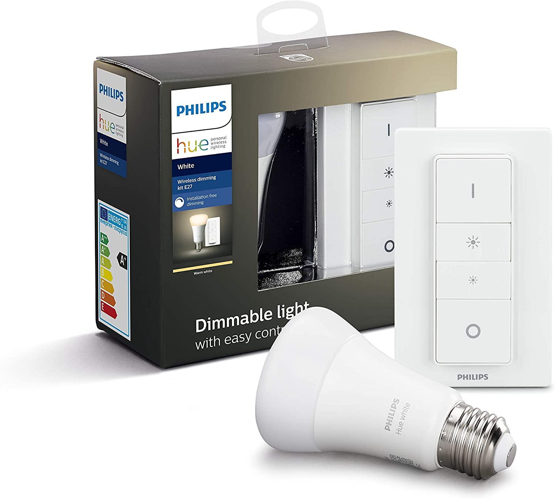 Philips Hue Bombilla Inteligente + Mando Inalámbrico