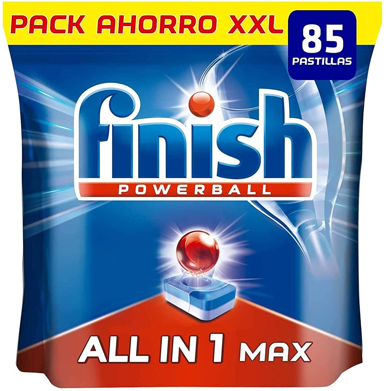 85 Pastillas Finish Powerball All in 1 Max