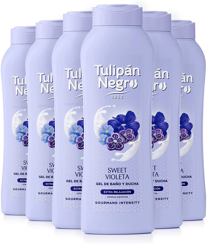Pack 6x720ml Gel De Baño Tulipán Negro Sweet Violeta