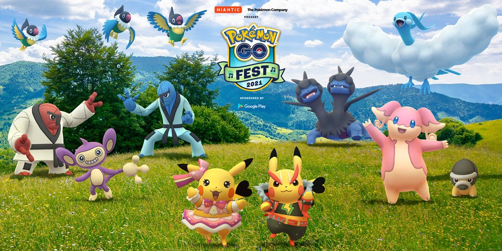 Lote con 3 pases de incursión remota u otras recompensas Pokémon GO Fest 2021