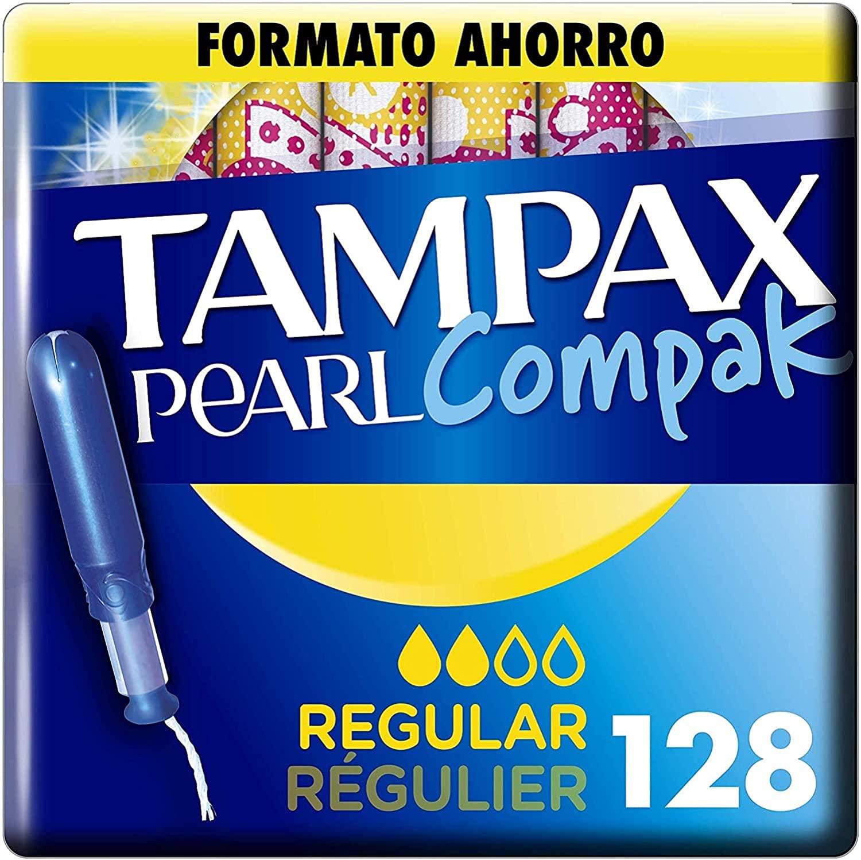 128 Tampax Pearl Compak Pearl Regular