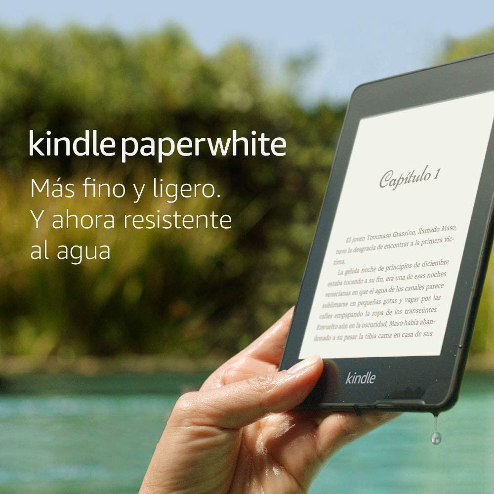 Kindle Paperwhite 8GB resistente al agua + 3 meses Kindle Unlimited