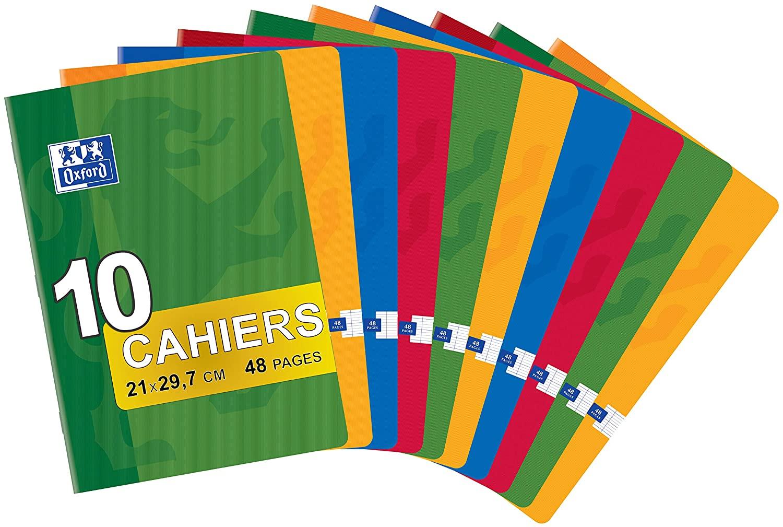 Lote de 10 cuadernos grapados en formato A4  Oxford Classic