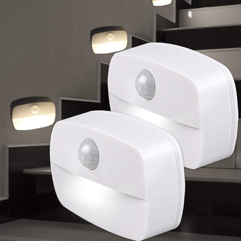 2x Luz nocturna con sensor de movimiento