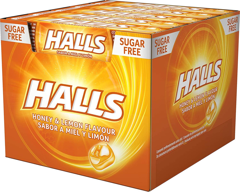 Caja de 20 Sticks Caramelos Halls varios sabores