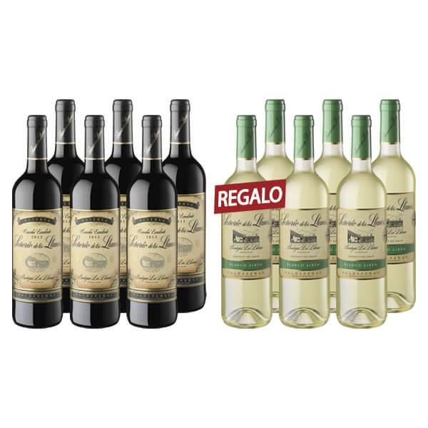 12 botellas x 750 ml Señorío de los Llanos D.O. Valdepeñas Tinto Reserva + Blanco Airén