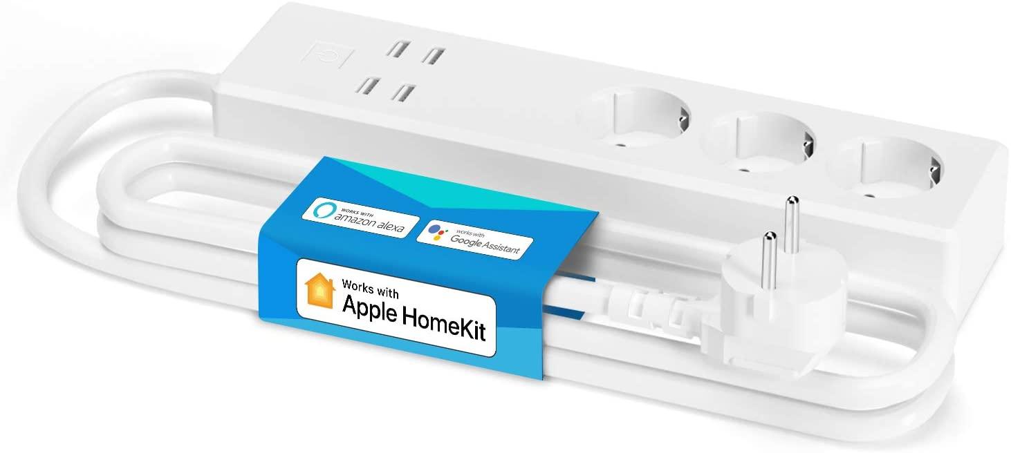 Regleta WiFi inteligente con 3 Tomas y 4 USB