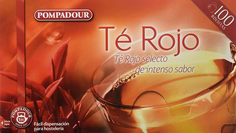 100 bolsitas Té Rojo Pompadour