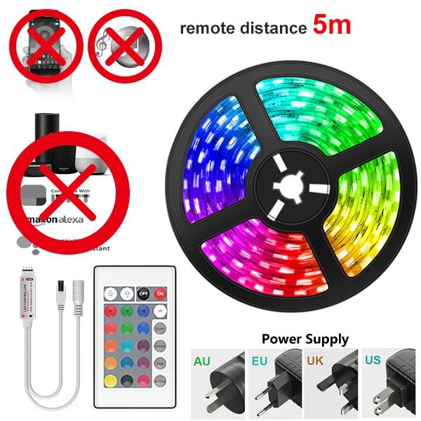 Tira de luces LED RGB 5M + Cargador + Controlador IR