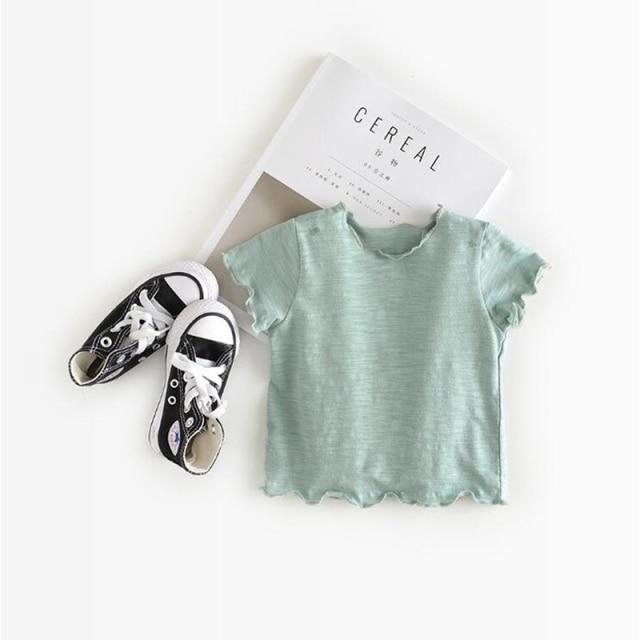 Camiseta de verano en algodón para niños (varios colores)