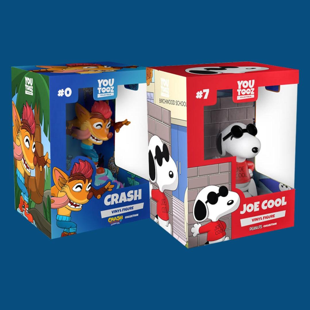 Figuritas de Youtooz (Snoopy, Crash, Spyro y otros)
