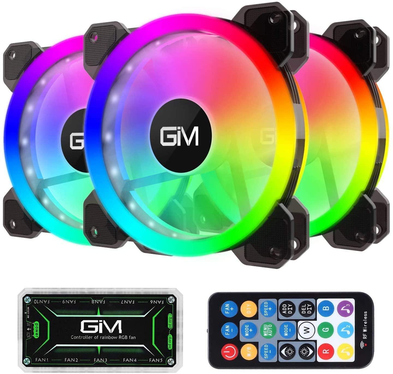 3x Ventilador RGB 120mm con controlador y mando
