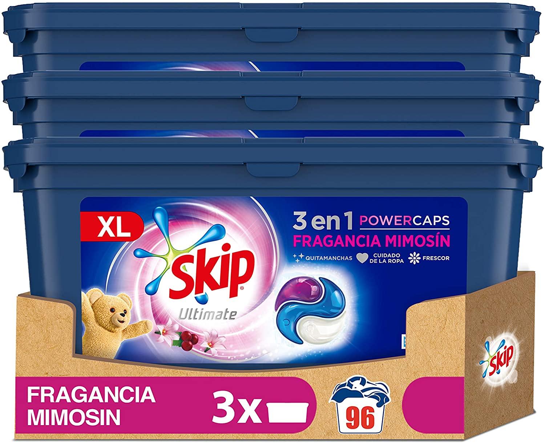 96 lavados Skip Ultimate 3en1 Detergente Capsulas Fragancia Mimosín
