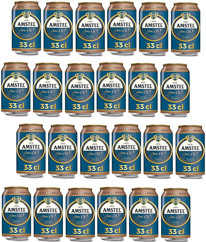 24x33cl Latas Cerveza Tostada Amstel Oro 0,0
