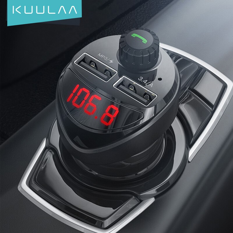Cargador coche MP3 FM KUULAA 3.4A