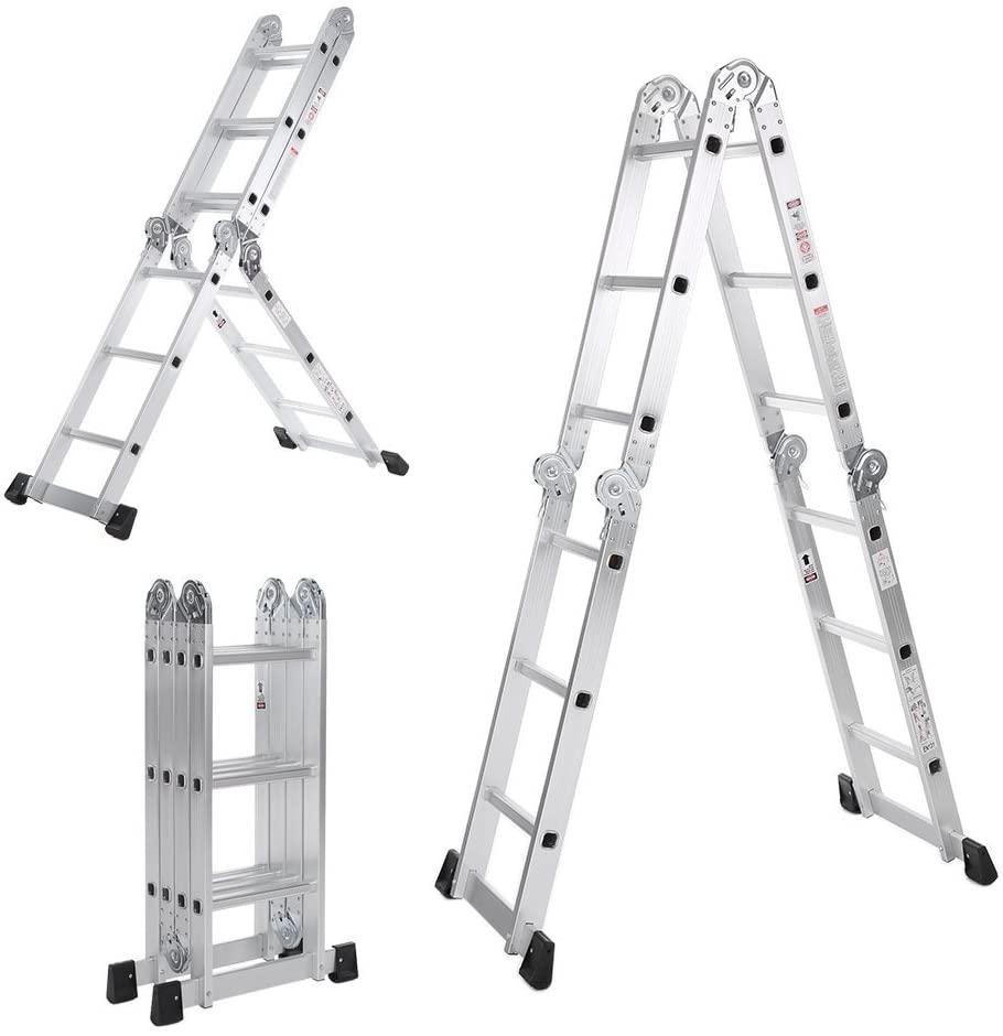 Escalera Plegable 7 En 1 Multifunción Extensible