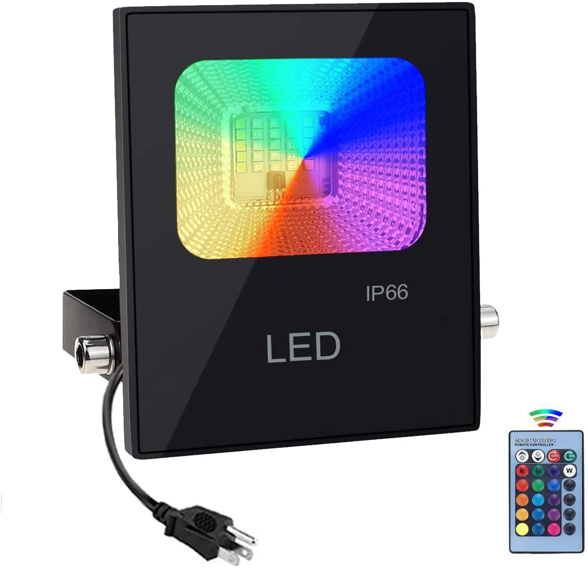 Foco LED RGB 60W con control remoto