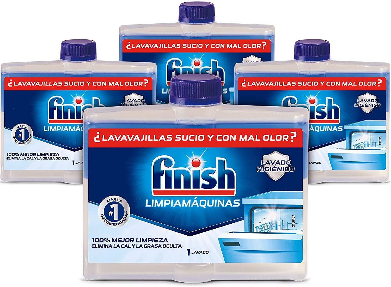Pack de 4 Limpiamáquinas para lavavajillas Finish