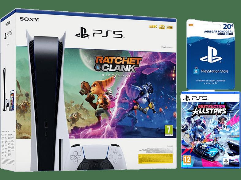 Consola PS5 + PS5 Destruction AllStar + Tarjeta PlayStation Network Prepago 20€