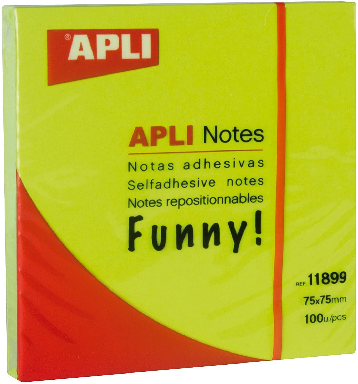 100 hojas Notas adhesivas APLI 75x75mm