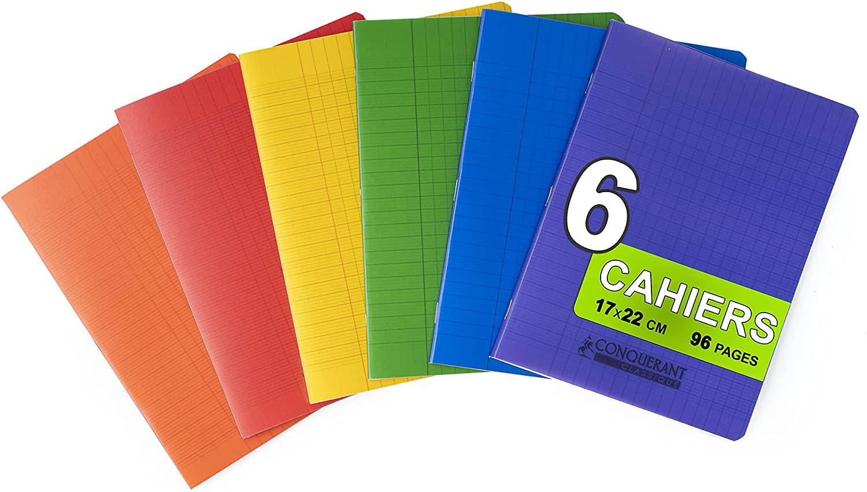 6 Cuadernos Oxford grapados 17x22 cm