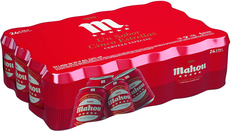 24x33cl Cerveza Dorada Lager Mahou 5 Estrellas