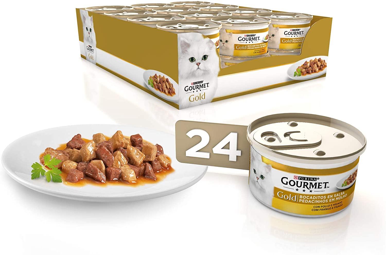 24x Purina Gourmet Gold Mousse con pollo e hígado