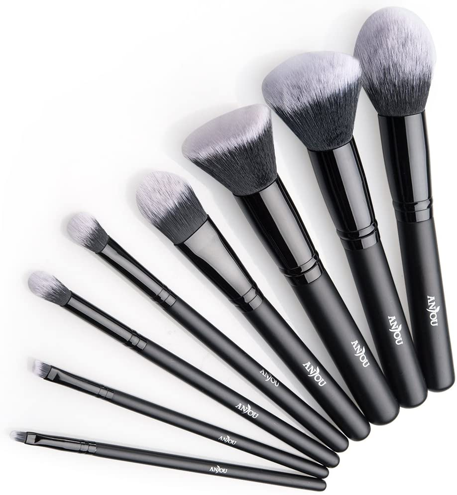8 Brochas Maquillaje Profesional Anjou