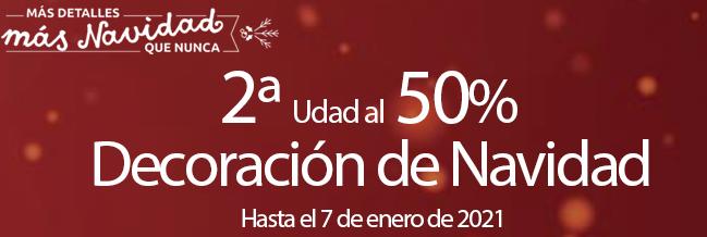 2ª unidad al 50% en decoracion de navidad