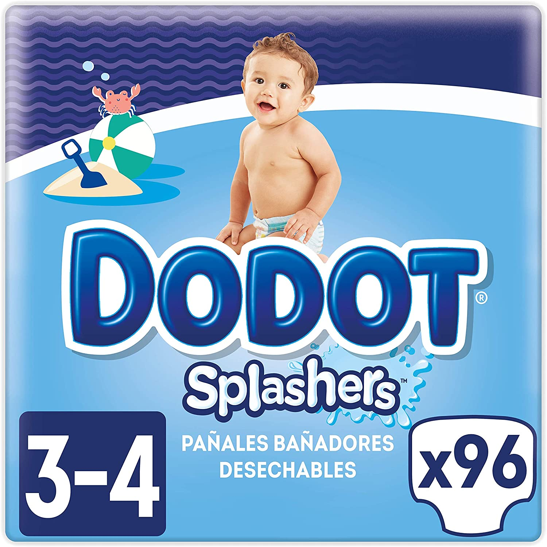 Pack 96 Pañales Dodot Splashers Talla 3