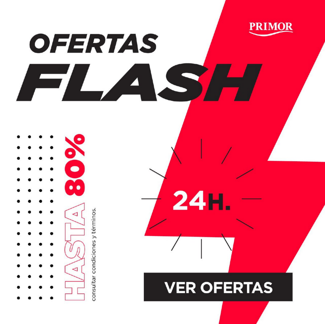 Ofertas Flash en Primor hasta 80% Descuento
