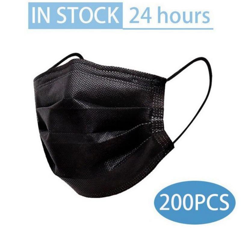 Pack 200 Mascarillas faciales desechables de 3 capas