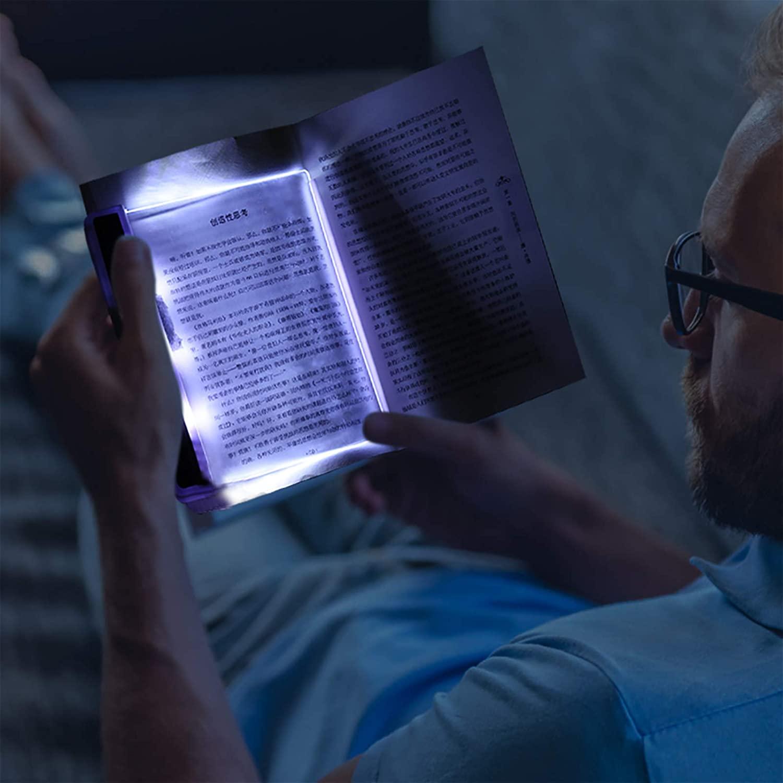 Luz de lectura para libros de papel o e-books