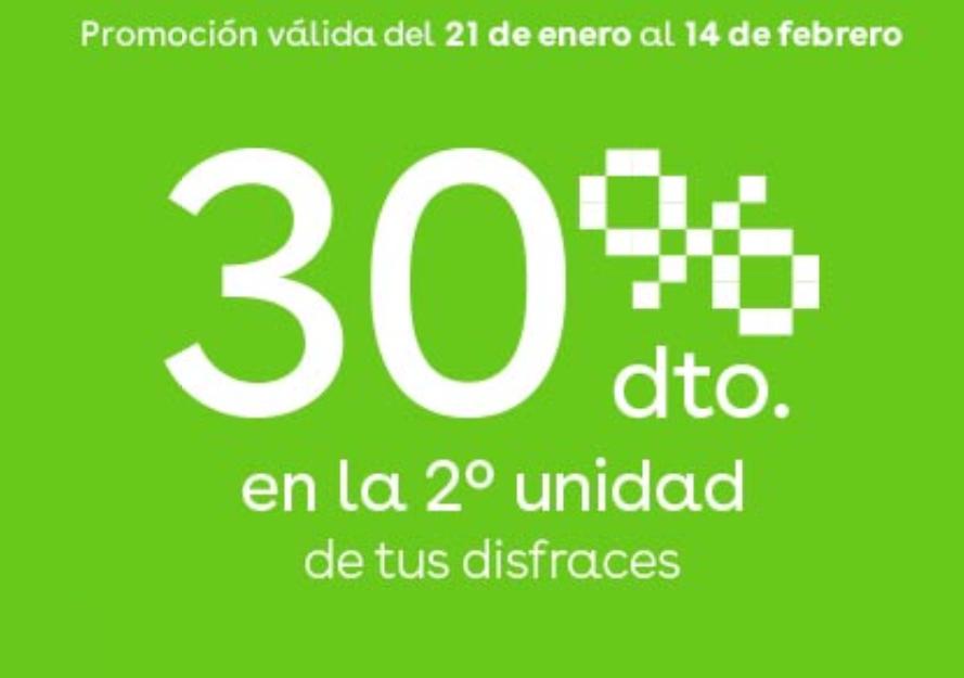 2ª Unidad al 30% en Disfraces de Carnaval ToysRus