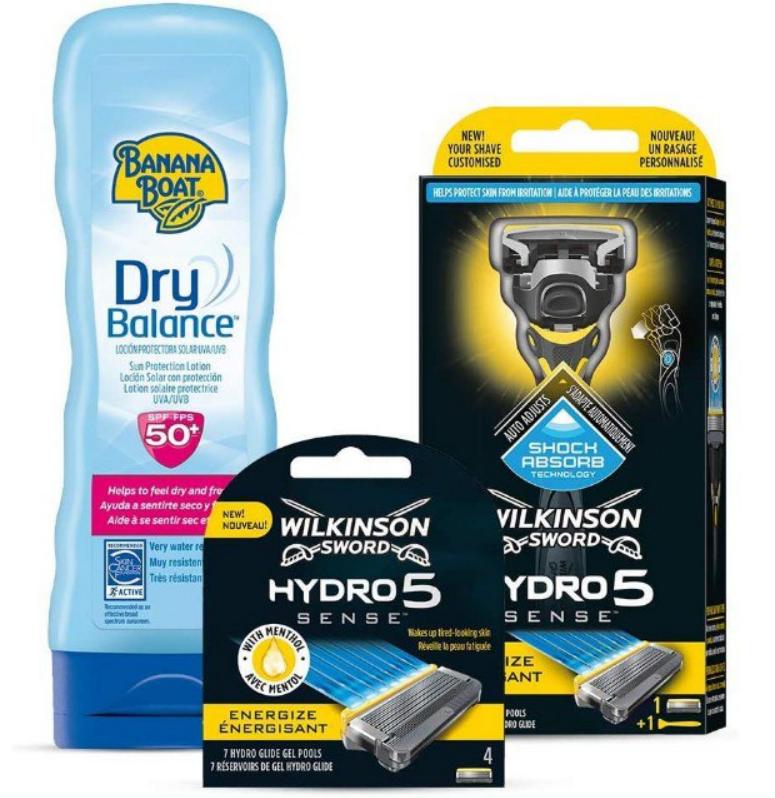 Pack de Maquinilla Hydro 5 + 4 Recambios + Crema Solar