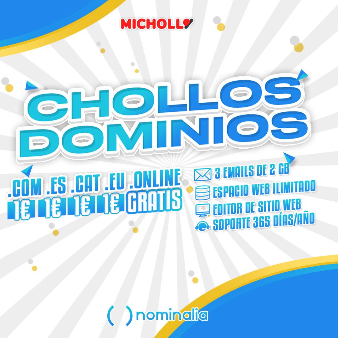 Chollo Dominios con Hosting en Nominalia a 1€ y incluso GRATIS
